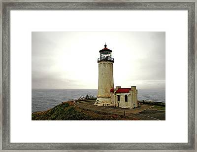 North Head Lighthouse - Graveyard Of The Pacific - Ilwaco Wa Framed Print by Christine Till