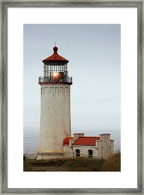 North Head Lighthouse - Ilwaco On Washington's Southwest Coast Framed Print by Christine Till
