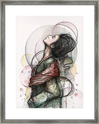 North  Framed Print by Olga Shvartsur