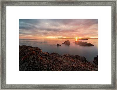 North Puget Sound Sunset Framed Print by Ryan Manuel