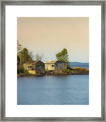 North Shore Old Buildings Framed Print by Bill Tiepelman