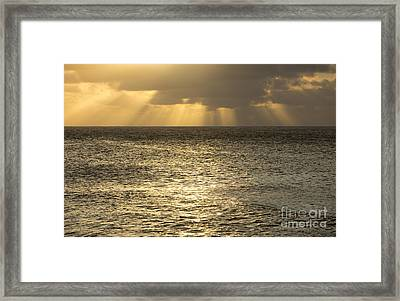 North Shore Sunset Glow Framed Print by Charmian Vistaunet