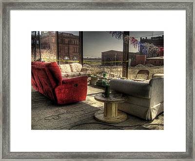 North St. Louis Porch Framed Print by Jane Linders