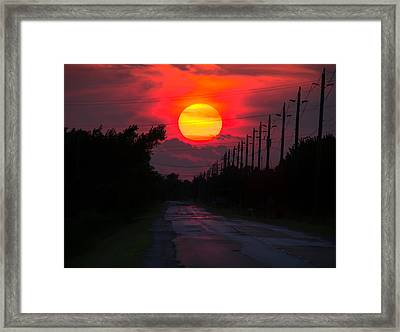 North Talbot Sunset Framed Print by Cale Best