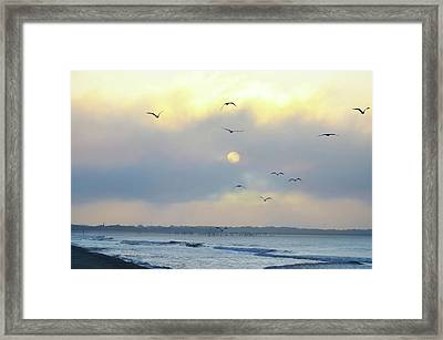 North Wildwood Beach Framed Print by Bill Cannon