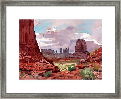 North Window View Framed Print by Donald Maier