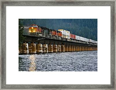 Northbound At Dusk Framed Print by Albert Seger