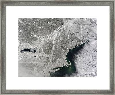 Northeast Winter 2015 Framed Print by Science Source