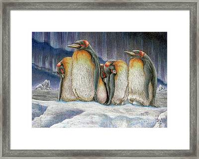 Northern Lights - Goodnight Framed Print by Beverly Fuqua