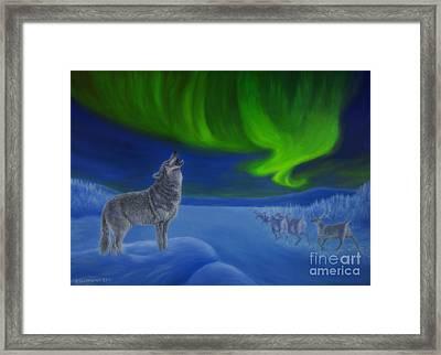 Northern Lights Night Framed Print by Veikko Suikkanen