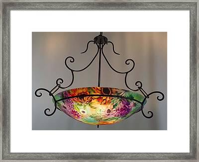 Northwest Floral Hand Painted Chandelier By Jenny Floravita Framed Print by Jenny Floravita