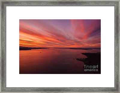 Northwest Searing Sunset Palette Framed Print by Mike Reid