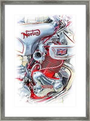 Norton Custom Motorbike Framed Print by Tim Gainey