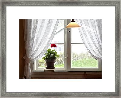Norwegian Interior #1 Framed Print by Susan Lafleur