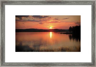 Norwegian Sunset Framed Print by Mountain Dreams