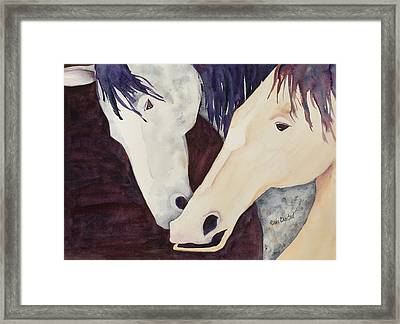 Nose To Nose II Framed Print by Renee Chastant