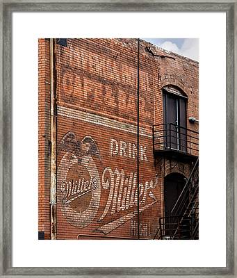 Nostalgic Painted Advertising Framed Print by David and Carol Kelly
