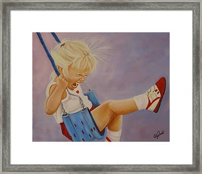 Not A Worry Not A Care Framed Print by Joni McPherson