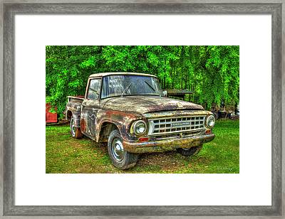 Not For Sale 1965 International Pickup Truck Framed Print by Reid Callaway