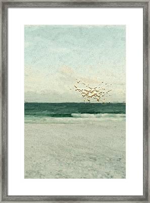 Not Quite Rothko - Golden Dawn - 2 Of 4 Framed Print by Serge Averbukh
