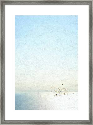 Not Quite Rothko - Golden Dawn - 4 Of 4 Framed Print by Serge Averbukh