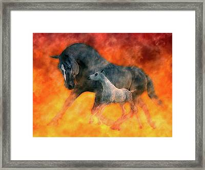 Nothin But Fire Framed Print by Betsy Knapp
