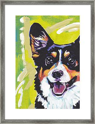 Nothin Like A Corgi Framed Print by Lea S