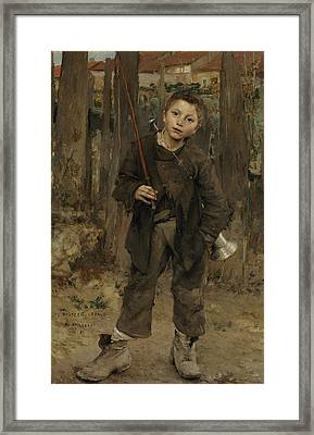 Nothing Doing Framed Print by Jules Bastien-Lepage