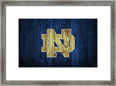 Notre Dame Barn Door Framed Print by Dan Sproul