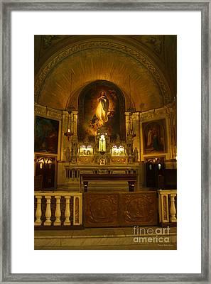 Notre-dame-de-bon-secours Chapel Framed Print by Deborah Benoit
