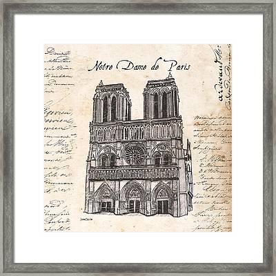 Notre Dame De Paris Framed Print by Debbie DeWitt