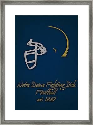Notre Dame Fighting Irish Helmet Framed Print by Joe Hamilton