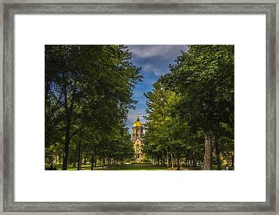 Notre Dame University 2 Framed Print by David Haskett