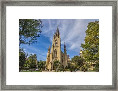 Notre Dame University 3 Framed Print by David Haskett
