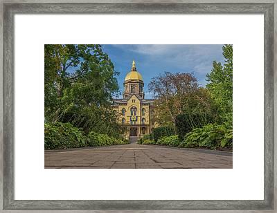 Notre Dame University Q Framed Print by David Haskett