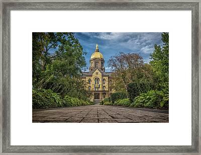 Notre Dame University Q1 Framed Print by David Haskett