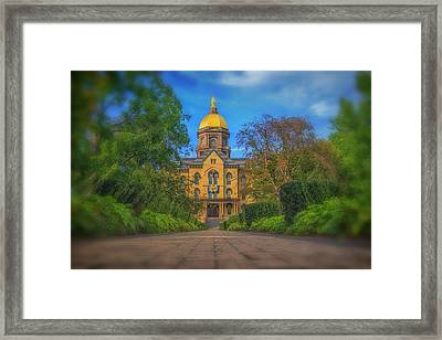 Notre Dame University Q2 Framed Print by David Haskett