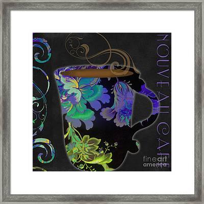 Nouveau Cafe Cool Framed Print by Mindy Sommers