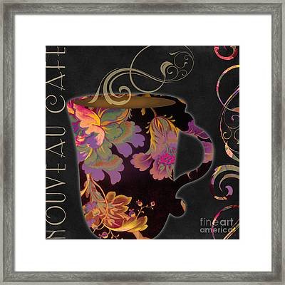 Nouveau Cafe Warm Framed Print by Mindy Sommers