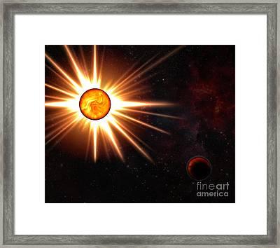 Nova And Dead Star Framed Print by Michal Boubin