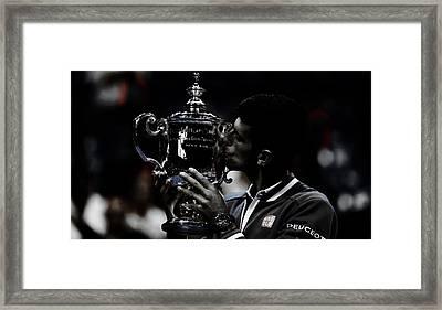 Novak Djokovic Framed Print by Brian Reaves