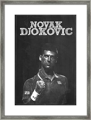 Novak Djokovic Framed Print by Semih Yurdabak