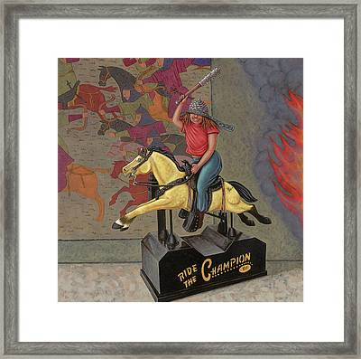 Now We Ride Framed Print by Holly Wood