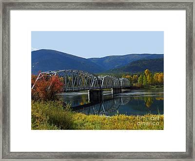 Noxon Bridge Framed Print by Tonya P Smith