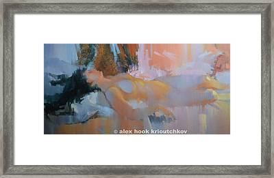 Nu 28 Framed Print by Alex Hook Krioutchkov