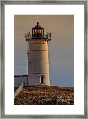 Nubble Light - Cape Neddick, York, Maine. Framed Print by Edward Fielding