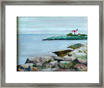 Nubble Light IIi Framed Print by Dillard Adams