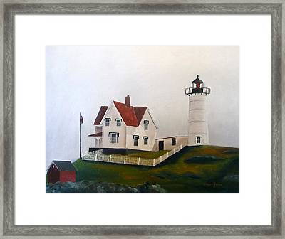 Nubble Light Iv Framed Print by Dillard Adams