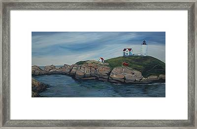 Nubble Light Framed Print by Raquel Dixon