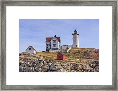 Nubble Lighthouse York Maine Framed Print by Edward Fielding